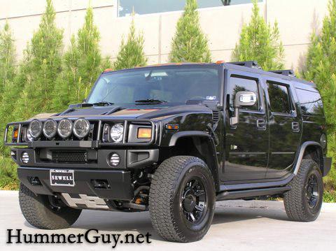 Black Custom Hummer H2